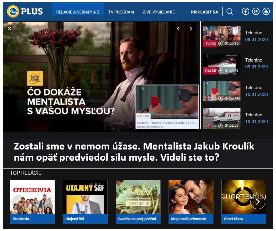 TV Markíza: Teleráno – Zostali sme v nemom úžase. Mentalista Jakub Kroulík  nám opäť predviedol silu mysle. Videli ste to?